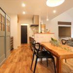 和の趣きを愉しむ平屋のキッチンダイニング