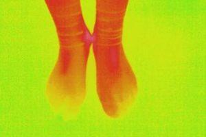 冷え性の温まった足(2)
