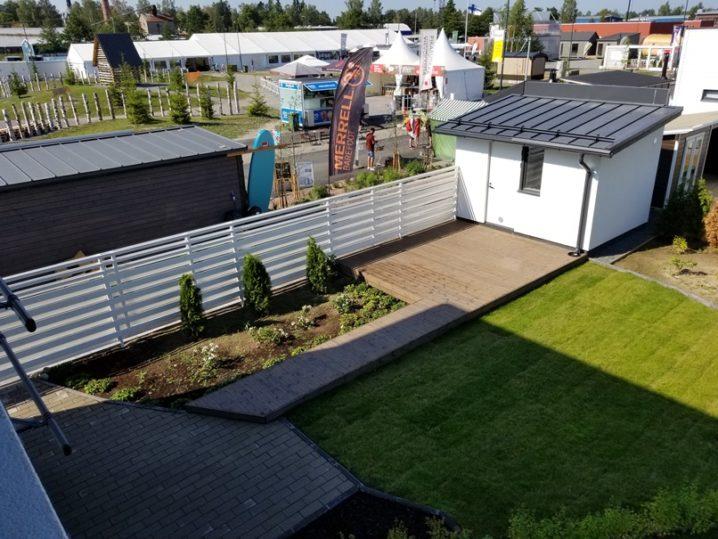 北欧住宅の敷地利用