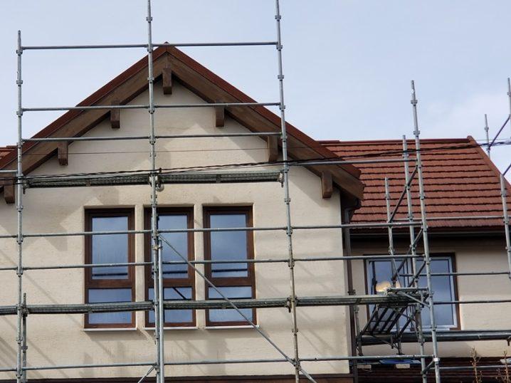 岩手の住宅展示場の外壁は漆喰仕上げ