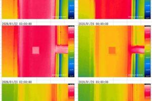 岩手の住宅のサーモカメラ温度推移