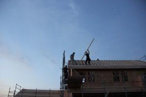 岩手の家づくり5家のフレーミング屋根