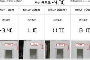 岩手で住宅の断熱レベル比較測定