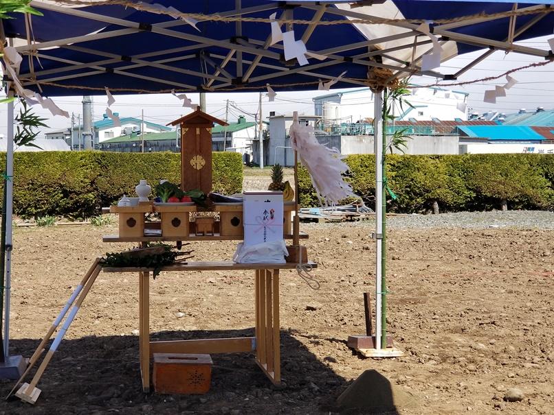 岩手県盛岡市で家のお建替えの地鎮祭