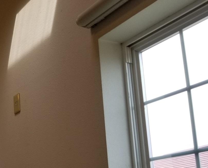 窓枠角が直角