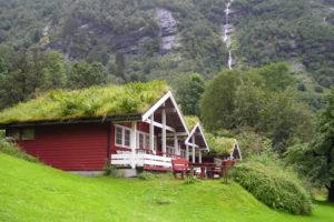草屋根のお家①