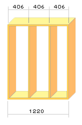 国際規格(フィート基準)