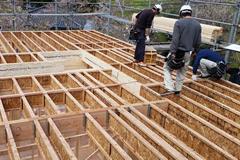 北米では、一般的に2階床構造に採用されているTJIを採用。